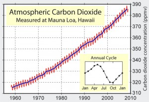 Kohlendioxid-Gehalt der Atmosphäre steigt an