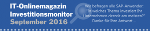SAP Investitionsmonitor 2016