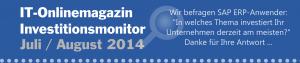 Frage Investitionsmonitor 2014