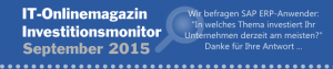 SAP Investitionsmonitor 2015 Frage