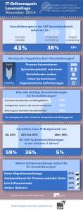 Infografik Konsolidierung von SAP Systemumgebungen und Landschaften