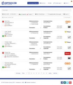 Sendungsverfolgung shiptrack.com