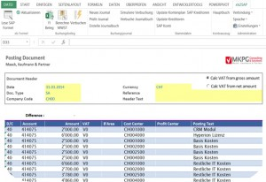EXCEL automtisch in SAP FI buchen Screenshot