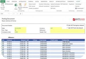 EXCEL automtisch in SAP FI buchen Screenshot