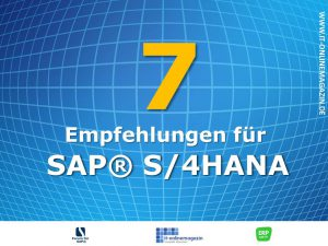 Empfehlungen SAP S4HANA Titelbild