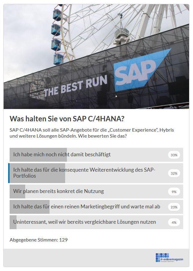 SAP C/4HANA Stimmungsbild Oktober 2018