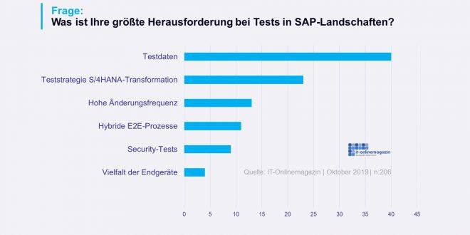 SAP Testdaten Herausforderungen Umfrage 2019
